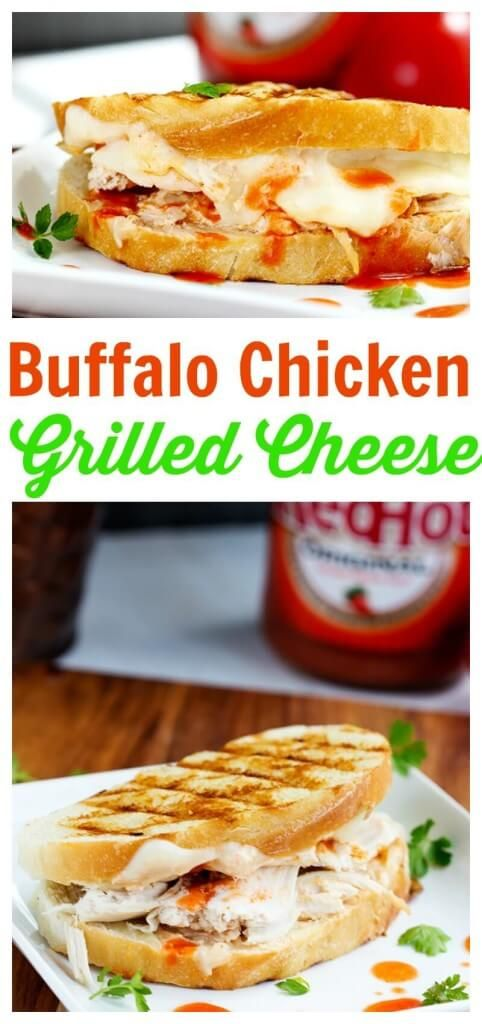 Buffalo Chicken Grilled Cheese - This grilled cheese sandwich bread is ...