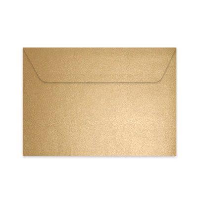 Enveloppe rectangle C5 dorée irisée 162x229 mm 135 gr - 78€ pour 130 enveloppes