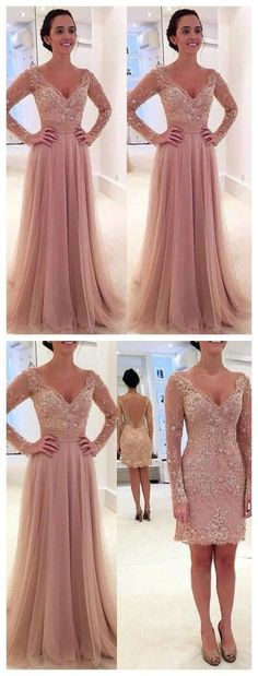 Princess prom dress,Prom dress 2016,Tulle prom dress,V-neck prom dress,Lace prom…