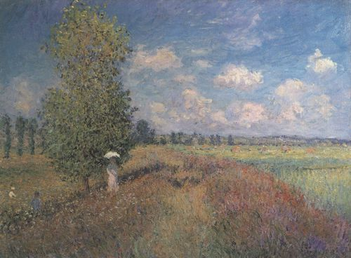 Monet Claude Sommer Mohnblumenfeld Zeno Org Monet Mohn Zeichnungen