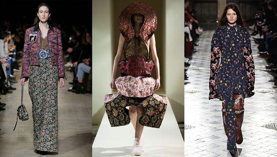 Tendance mode automne-hiver 2016-2017 imprimés fleurs: