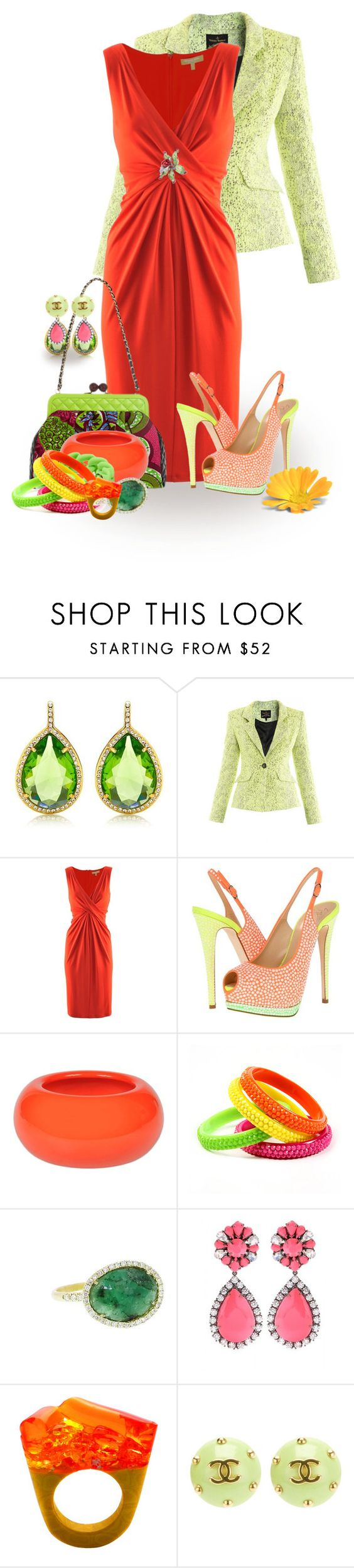 """""""Guiseppe Zanotti Neon Polka Dot Slingbacks"""" by lisa-arnold-holden ❤ liked on Polyvore featuring Juicy Couture, Vivienne Westwood Anglomania, Michael Kors, Moschino, Giuseppe Zanotti, Sonia Rykiel, Marc by Marc Jacobs, Amrita Singh, Meira T and Pasionae"""