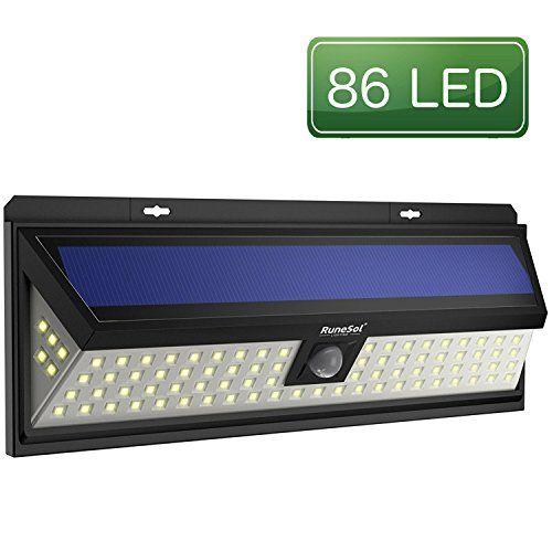 Luces 86 Led Runesol Con Sensor Lámpara Solares Con 86 Luces Led Luz Led Solares Con Focos Para Iluminar Exteriores Patios Cercas Jar Focos Luz Led Led