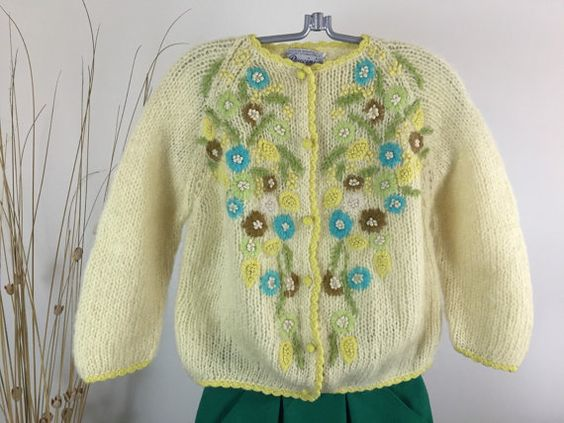 Vintage 60's Puccini Botany Wool and Mohair Sweater Small Vintage ...