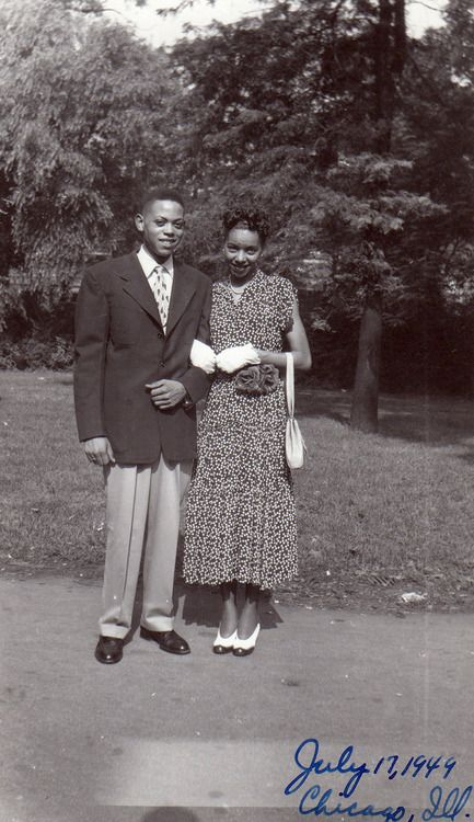 Our first date: Black Couples, African American, Album Waheedphotoarchive, Colter Family, Black History, Chicago Il, 1949 Chicago, American Families