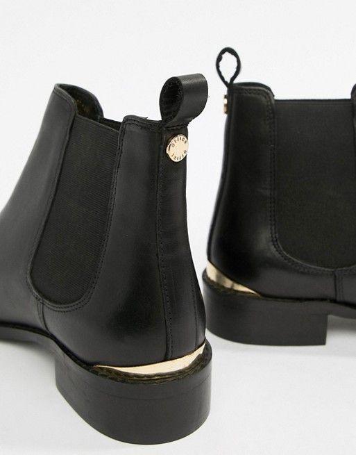 Office Bramble black leather chelsea