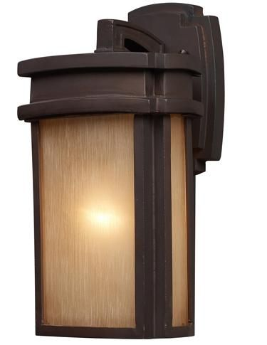 Mission Style Wall Sconces Lighting : ELK Lighting s model #42140 is a Craftsman/Mission-style one-light outdoor wall sconce from the ...