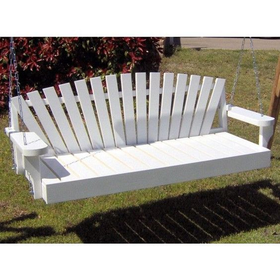 Wicker patio cool porch white swings furniture for Cool porch swings