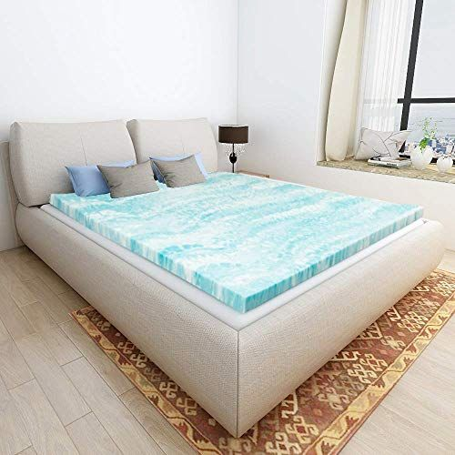 Milemont Mattress Topper Full 2 Inch Cool Swirl Gel Full Certipur Us Certified Blue For Product Price Memory Foam Mattress Topper Mattress Mattress Topper