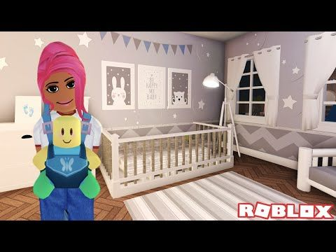 Roblox My Dollhouse Youtube Decorating My Newborn Son S Nursery Room Bloxburg Roleplay Roblox Youtube In 2020 Nursery Room Nursery Room