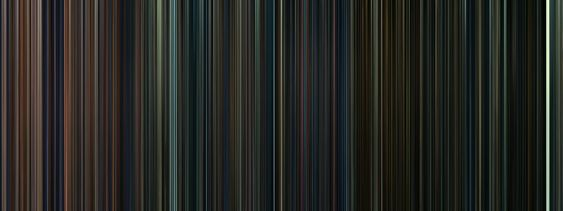 Every frame of the Harry Potter movies, condensed into a barcode. how cool is that?   And you can tell that the white stripe at the end is the King's Cross scene...so cool.