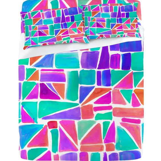 Amy Sia 'Watercolor Shapes' Sheet Set
