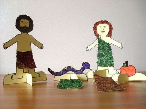 Adam & Eve - Sunday School Crafts (Had to repin this because other link wasn't working.)