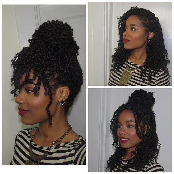 "Photo by @ jeanneep | ""This is Mambo hair. It's synthetic hair that mimics natural hair.""  @ jeanneep Wrote: ""Kinky twist done by me! I love this hair! It's super light, spongy, and versatile, and mimics natural hair. Can be washed and moisturized too! Hair is provided by me, so book under Twist Kinks on my Styleseat:  Styleseat.com/jeannee.primm  """