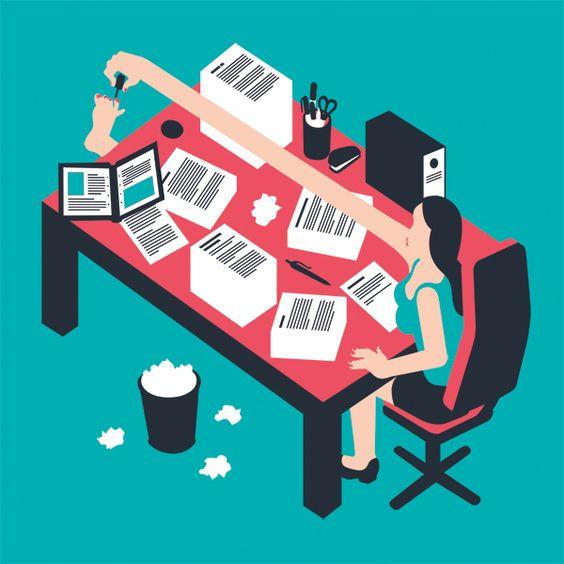 Procrastination. Illustration for Spirit Magazine by Miguel Montaner, via Behance