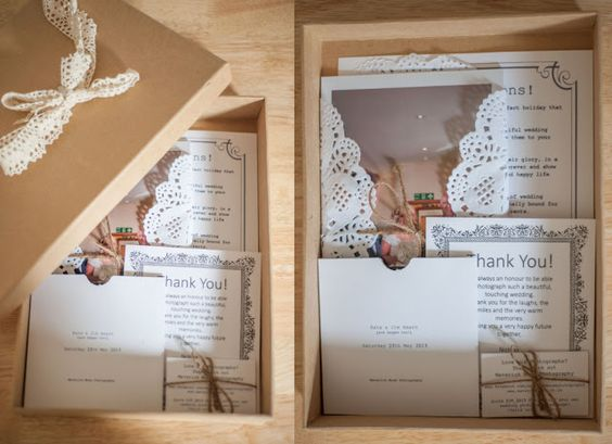 Nicki J Photography: Vintage Wedding Packaging: Nicki J Photography