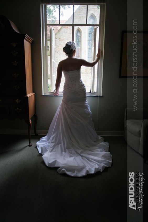 DOwntown Raleigh, Cathedral Bride in the window