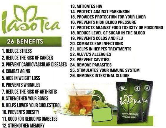Discover the benefits of IASO TEA and enjoy. email: bjhmarketing101@gmail.com