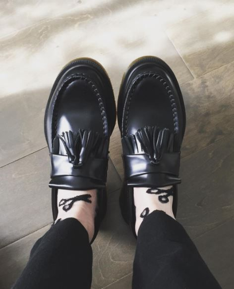 Docs and Socks: The Adrian loafer, shared by bluegloomer.   Pinterest: nasti
