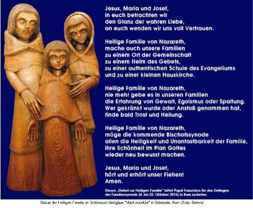 Gebet zur Heiligen Familie