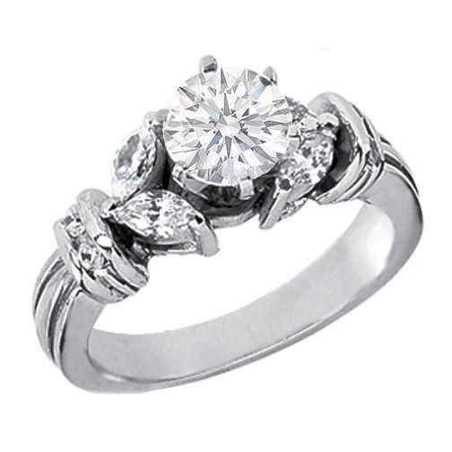 Round diamonds Diamonds and Engagement rings round on Pinterest