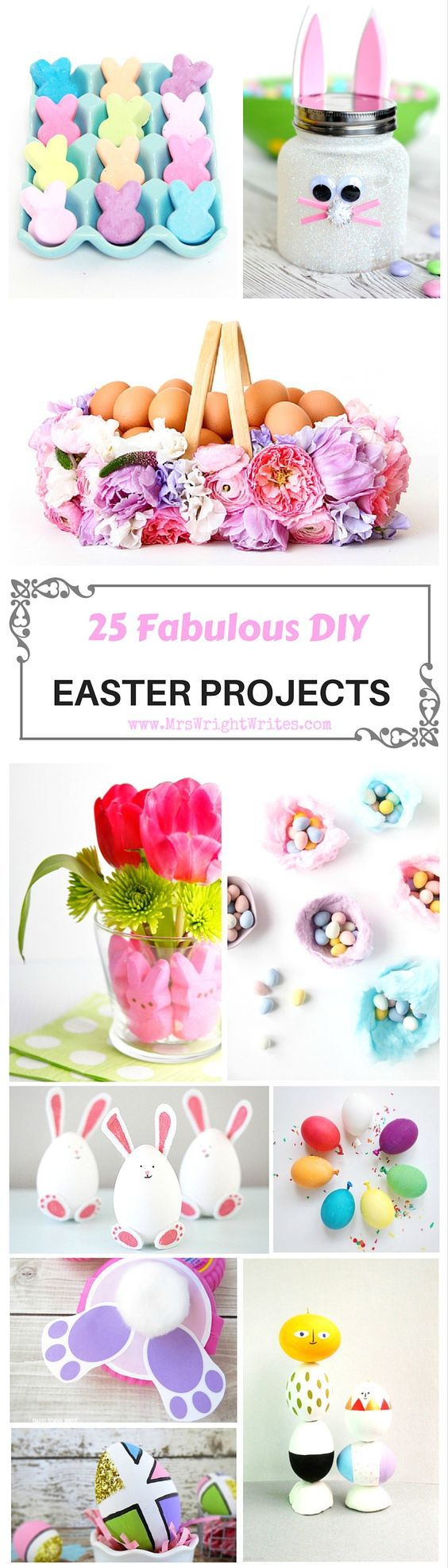 Get in the holiday mood like a pro with these 25 fabulous DIY Easter projects! These are great Easter DIY projects for kids and adults alike!