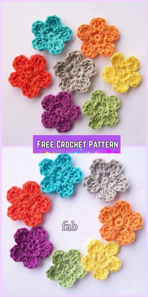 Crochet Rainbow Flower Butterfly Free Pattern Crochet Flowers