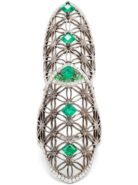 Shop Dionea Orcini 'Semiramis' diamond and emerald double ring in Browns from the world's best independent boutiques at farfetch.com. Shop 400 boutiques at one address.