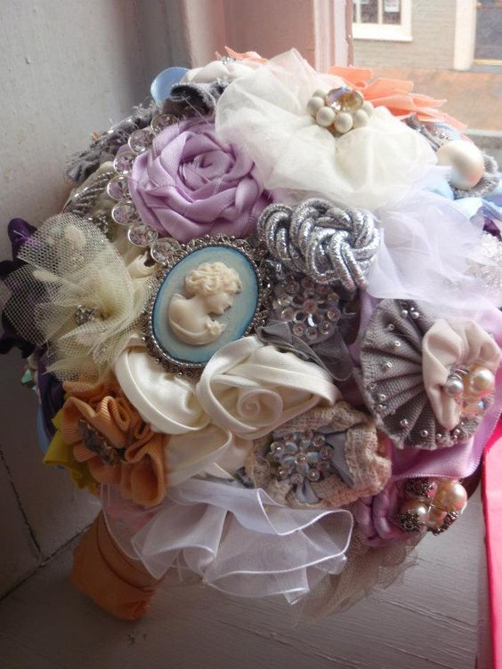 Bridal Bouquet Out Of Ribbons : The world s catalog of ideas