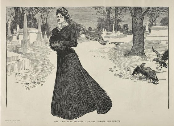 """A new exhibition at The Metropolitan Museum of Art in New York will showcase the macabre history of mourning clothes.   The exhibition, """"Death Becomes Her: A Century of Mourning Attire,"""" will feature dresses, veils and accessories worn by widows from 1815-1915, illustrating a period when women were expected to mourn within a strict set of social guidelines, down to the fabric of their clothing."""