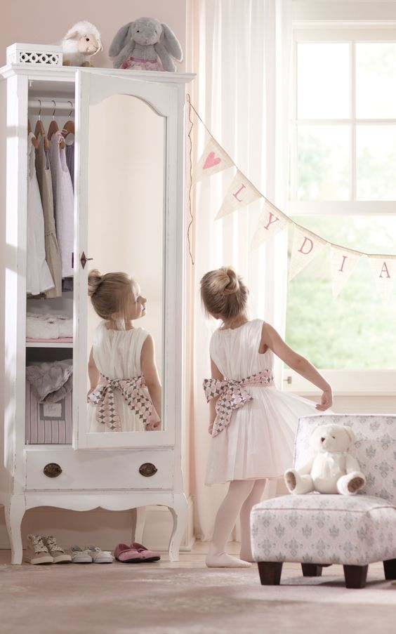 Playing dress up is more fun with a wonderfully Italian-made armoire for your little girl. HomeDecorators.com