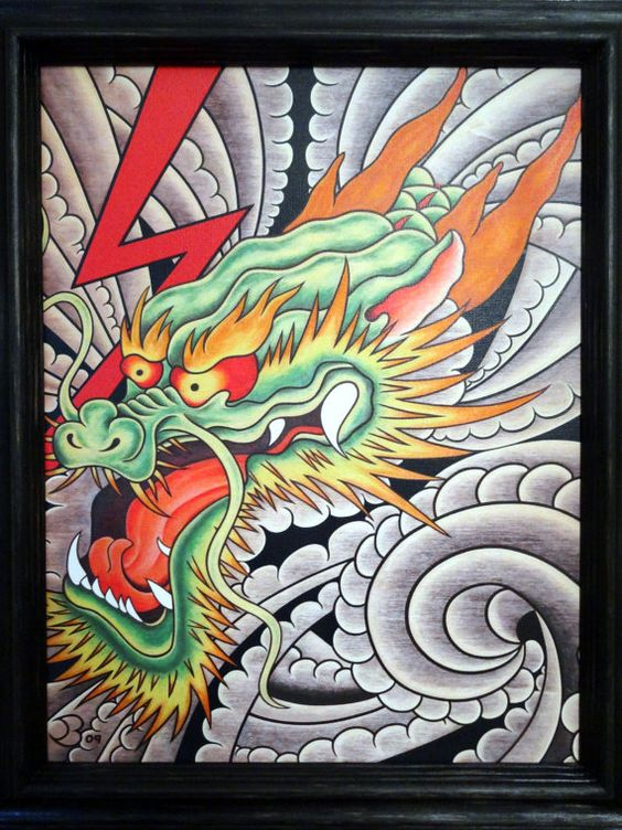 Japanese dragon japanese dragon tattoos and fine art for Japanese tattoo flash