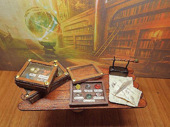 Il Collezionista  2  Miniatura teca gemme preziose di PiccoliSpazi