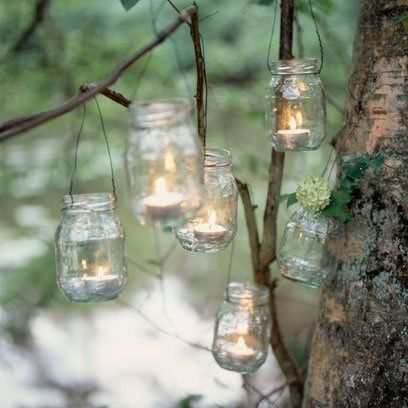 http://fashion6677.blogspot.com - Love this idea for summer bbqs and garden parties when the sun goes down and its turning into evening!