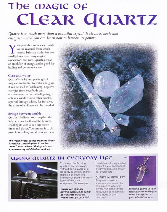 Crystals & Stones:  The Magick of #Clear #Quartz.