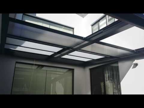 Retractable Polycarb Or Glass Roof That Opens And Closes