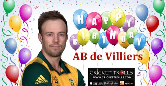 Wish you a #HappyBirthday, Keep Rocking!!   #ABdeVilliers AB De Villiers #Cricket Cricket Trolls  http://www.crickettrolls.com/2016/02/17/happy-birthday-ab-de-villiers-17th-feb/