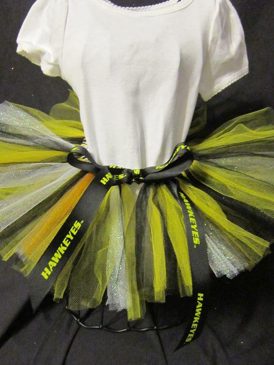 Iowa Hawkeyes Inspired Tutu~ Made by JojosTulleShack.com