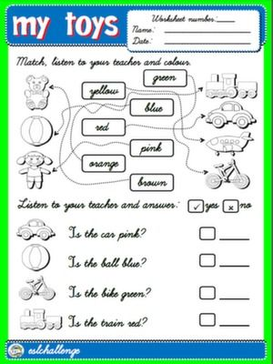 TOYS - WORKSHEET 3 | my toys | Pinterest | Worksheets, Step By ...