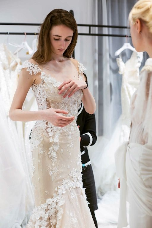 What To Expect At Your First Wedding Dress Fitting Fitted Wedding Dress Wedding Dress Couture Wedding Dresses