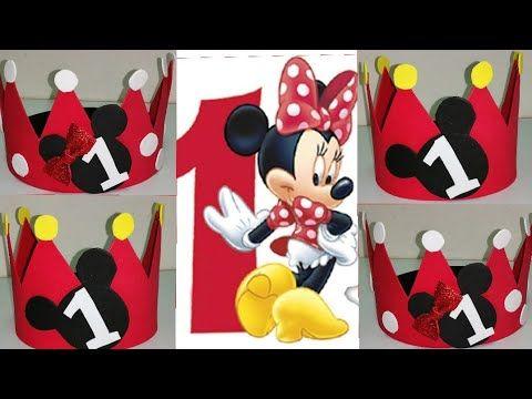 تاج على شكل مينى و ميكى ماوس للاعياد الميلاد Diy How To Make Minnie And Mickey Mouse Hat Youtube Cards Novelty Ice Tray