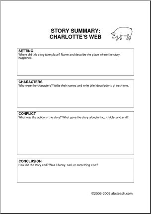 Charlotte's Web Theme Unit - Worksheets and Printablest