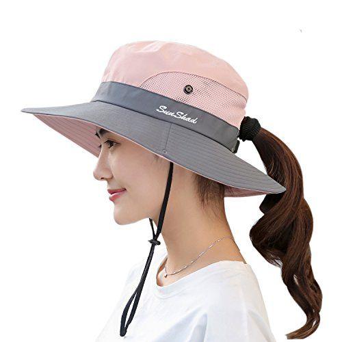 Women S Sun Hat Outdoor Uv Protection Foldable Mesh Bucket Hat Wide Brim Summer Beach Fishing Cap Pink All4hiking Com Sun Hats For Women Wide Brim Sun Hat Hats For Women