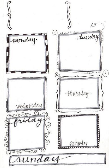 Free Weekly Planner Printable Agenda Pinterest Weekly - sample agenda calendar