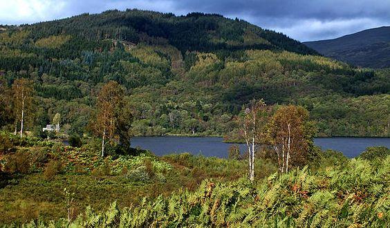 A view across Loch Achray, Scotland