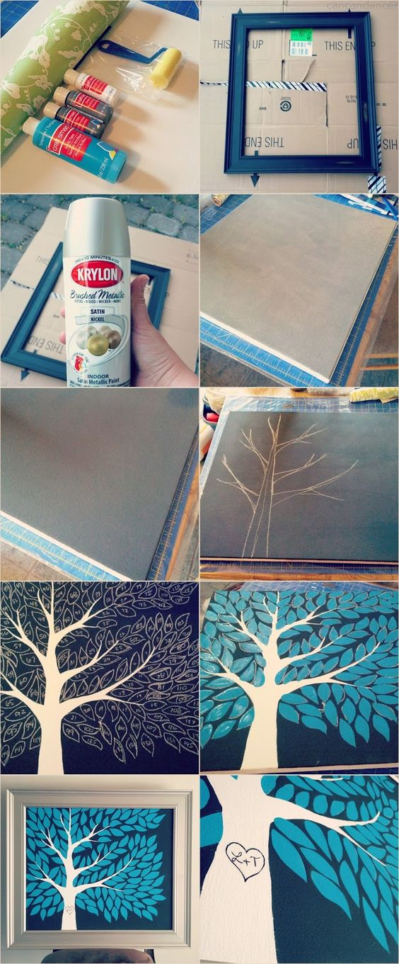 Tree guest book. I really like how it can be put in home decor and not just stuck in a closet.