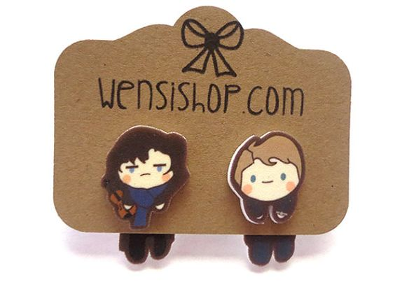Sherlock Inspired Cling Earring by nerdgirlwensi on Etsy