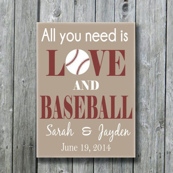 Baseball Wedding Gifts: All You Need Is Love And Baseball,Personalized Baseball