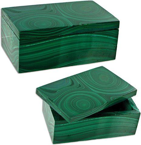 Color Esmeralda - Emerald Green!!!  Malachite Boxes: