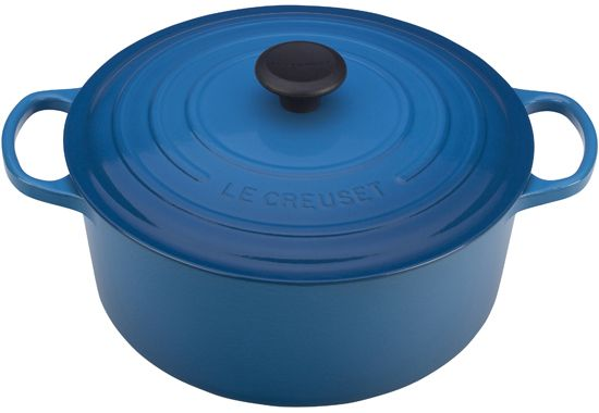"I wrote an essay about the emotional attachment I have to a Le Creuset 7 1/4 qt. Round French Oven. They have several sizes and 15 colors to choose from, this 7 1/4 quart is about 12"" across and is a good size for our family. I use it in the oven and on the stovetop. It's an heirloom-quality purchase - which means you will have to pry it from my cold, dead hands."